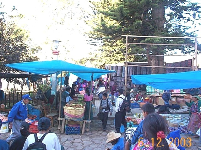 Market day, central square, Tecpan, Guatemala