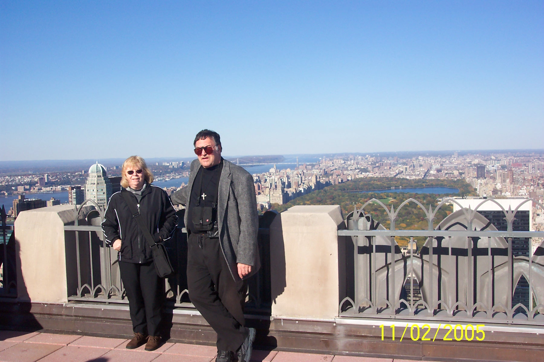 Judy and David Beine, overlooking Central Park