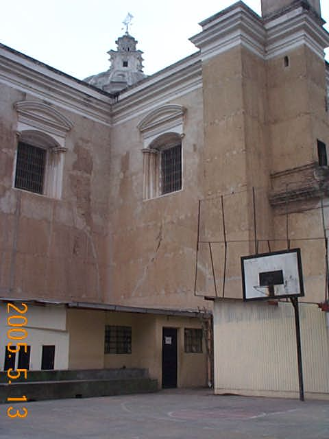 Court at the rear of the Church of St. Francis
