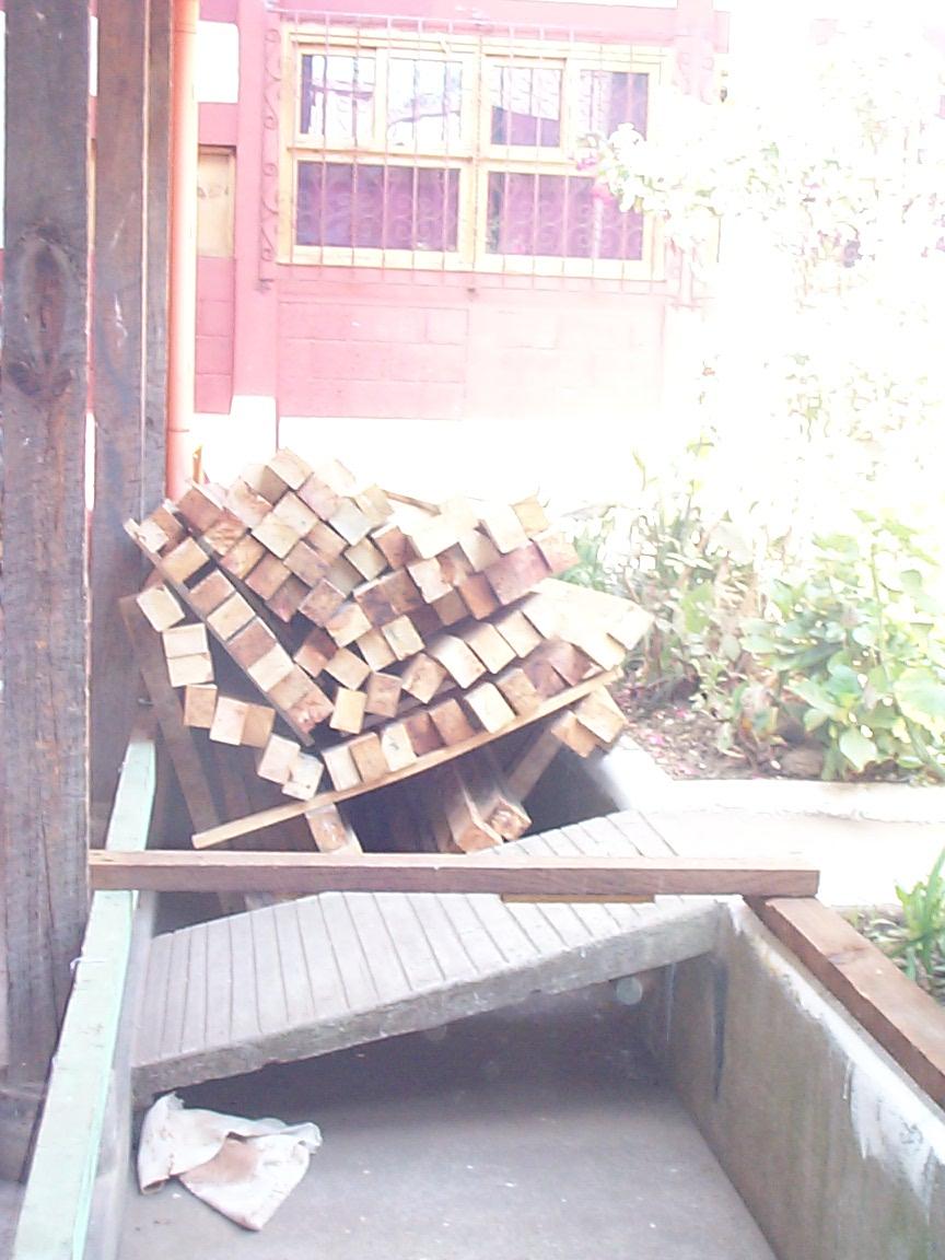 Courtyard lumber storage